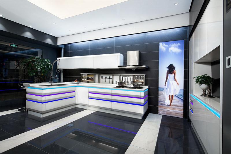 Mobilier moderne linkok grande chambre de luxe cuisine design mobilier laqu brillant photo sur - Mobilier cuisine design ...