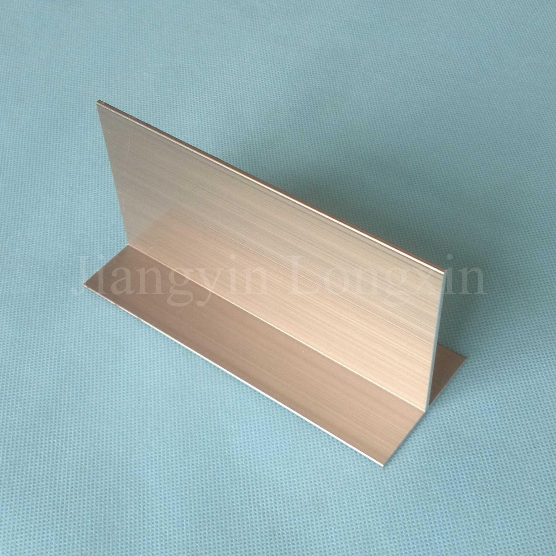 Foto de champagne t shape perfil de alum nio anodizado em - Perfil aluminio anodizado ...