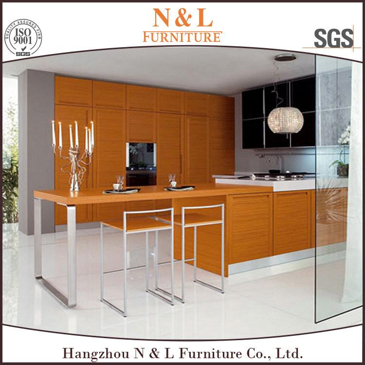 Foto de N&L Lujo moderno despensa cocina de madera sólida mueble ...