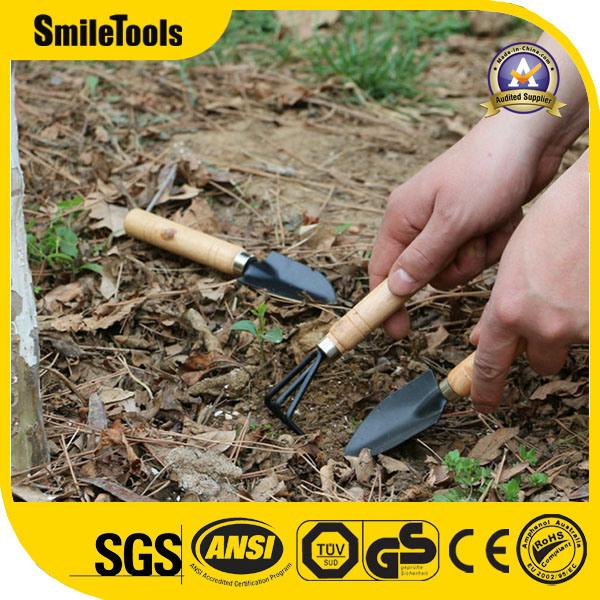 Hilfsmittel-Set des Garten-3piece mit Garten-Rührstange-Schaufel