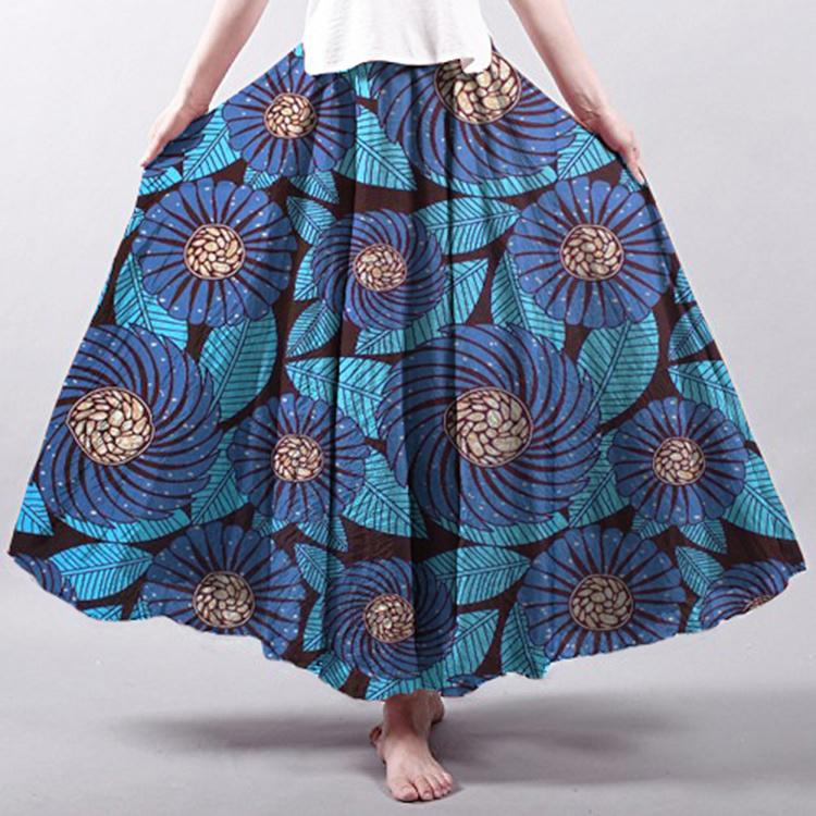 2cc8c9de0 Señoras la moda faldas largas de estilo africano Bohimia Falda ...