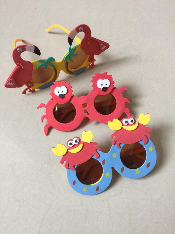 2d42de61779aa Espuma de EVA de desenhos animados para crianças com óculos de sol Animal