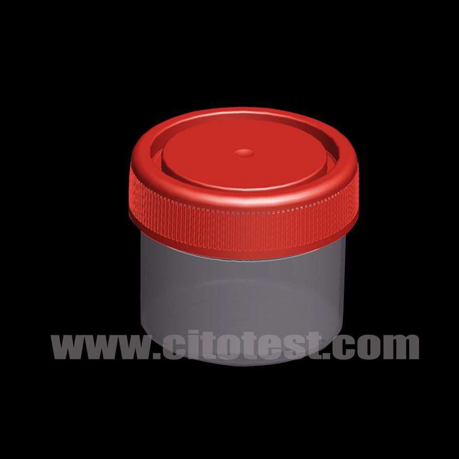 50 [مل] بلاستيكيّة عينة وعاء صندوق مع تدرّج