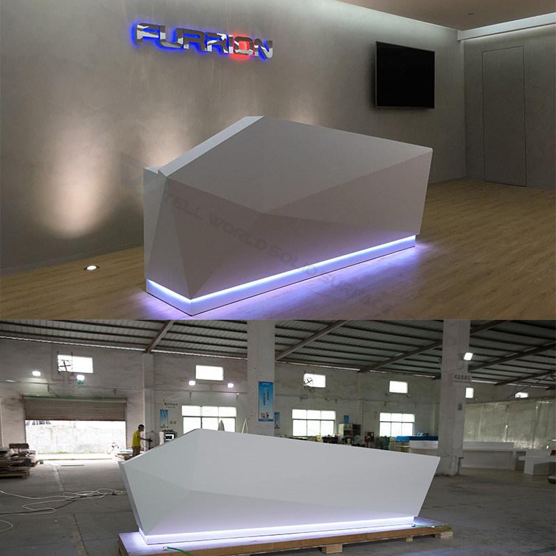 Piedra artificial mostrador de recepción de muebles de salón de ...