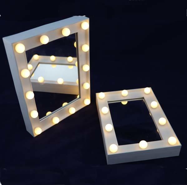 Mini LED Cadre Photo miroir de maquillage