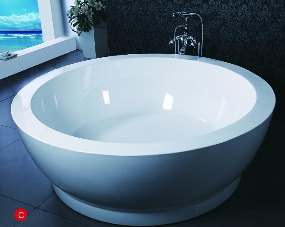 Vasca da bagno indipendente di figura rotonda bf u vasca da