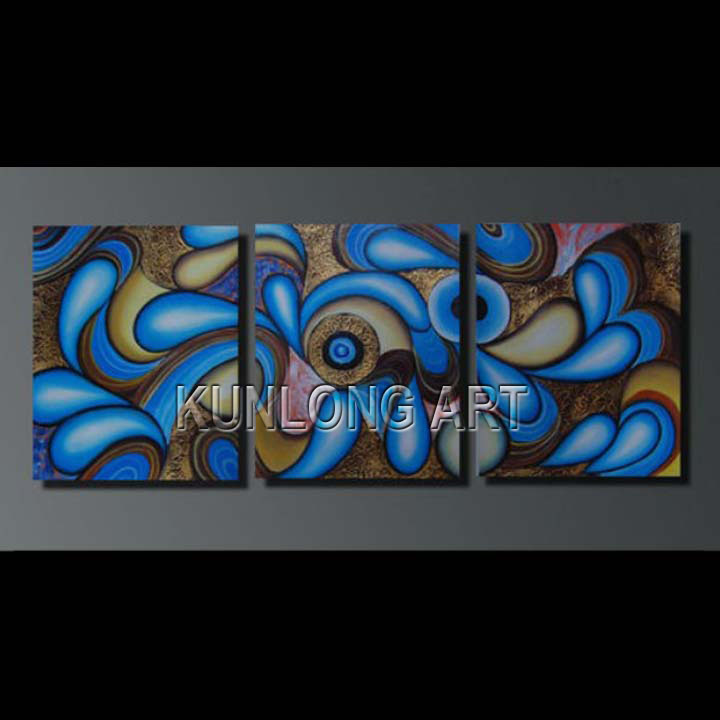 Modern Abstract Canvas Oil Painting for Wall Decor (KLA3-0023)