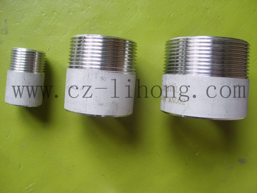 "Nipplo di saldatura DIN2999 da 1"" in acciaio inox 316L da tubo"