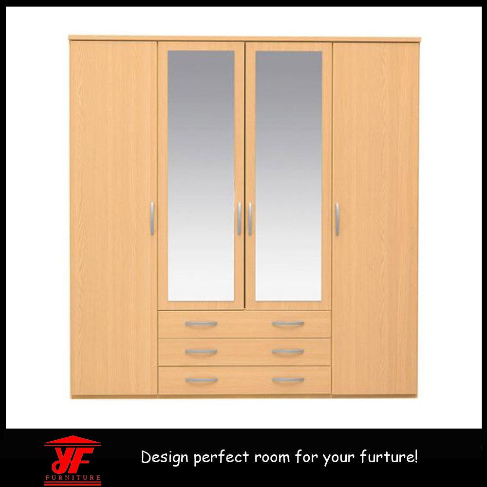 Placard mural chambre Design simple miroir de luxe moderne en bois ...