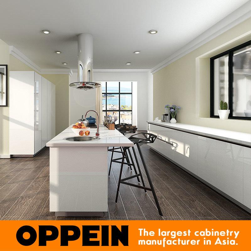 Foto de Oppein moderno blanco rojo laca brillante gabinetes de ...