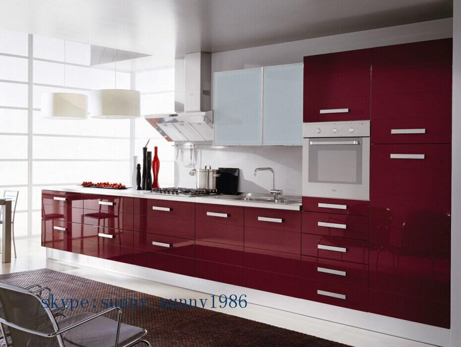 Foto de arm rio de cozinha mdf vermelho para mobili rio de - Armarios personalizados ...