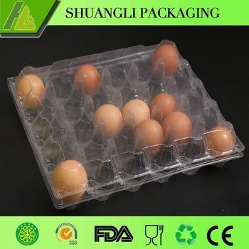 Dienblad van de Verpakking van het Ei van pvc van de blaar het Plastic