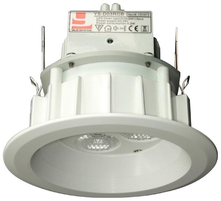 Vers le bas LED lumière (YS-D03R/G/B/W)