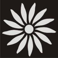 Aufkleber-Spiegel-Blume