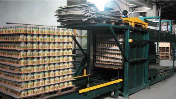 Palletizer/Palettenentlader für gefüllte Dosen
