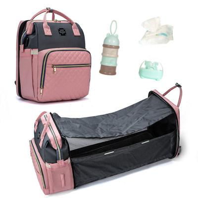 折りたたみ式多機能ポータブルオムツベビーベッドバッグ、ベビーカーストラップ、交換可能クッション