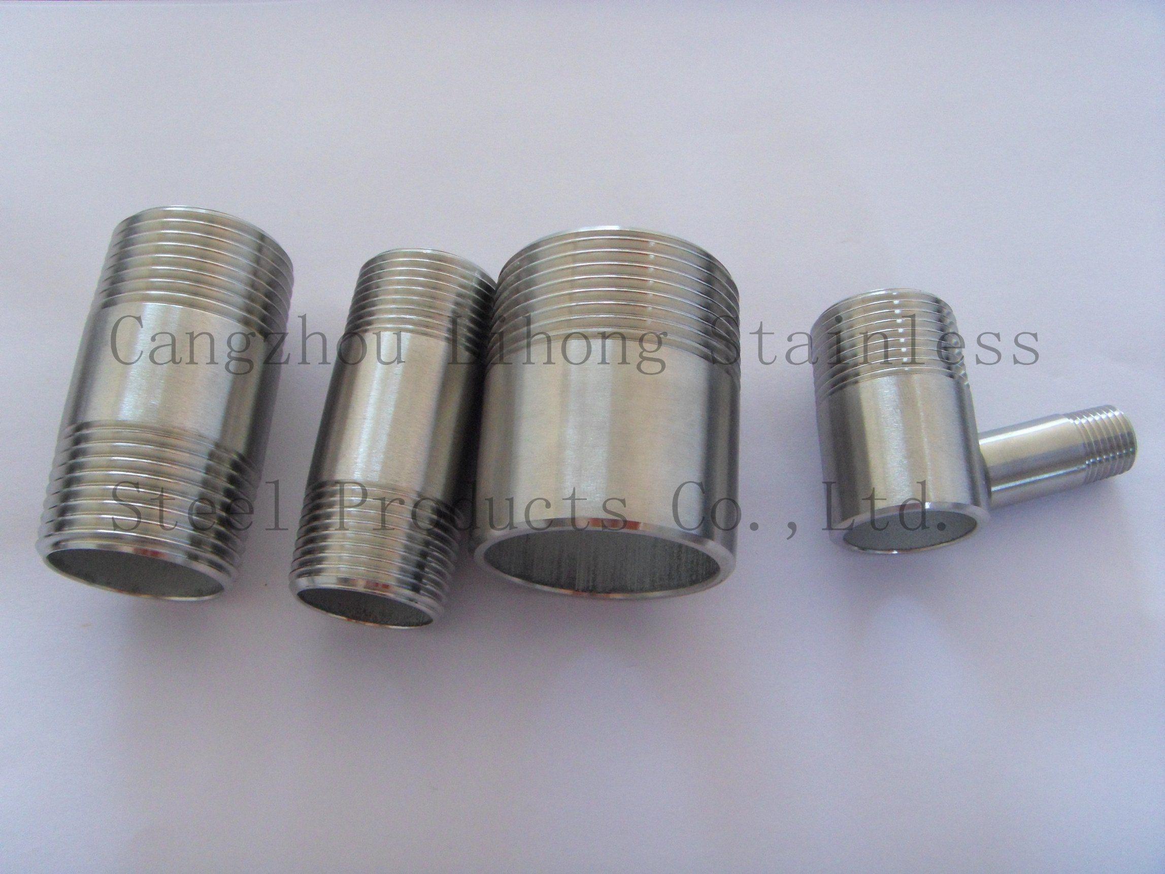 Raccordo per tubi in acciaio inox 316ti con nipplo di saldatura
