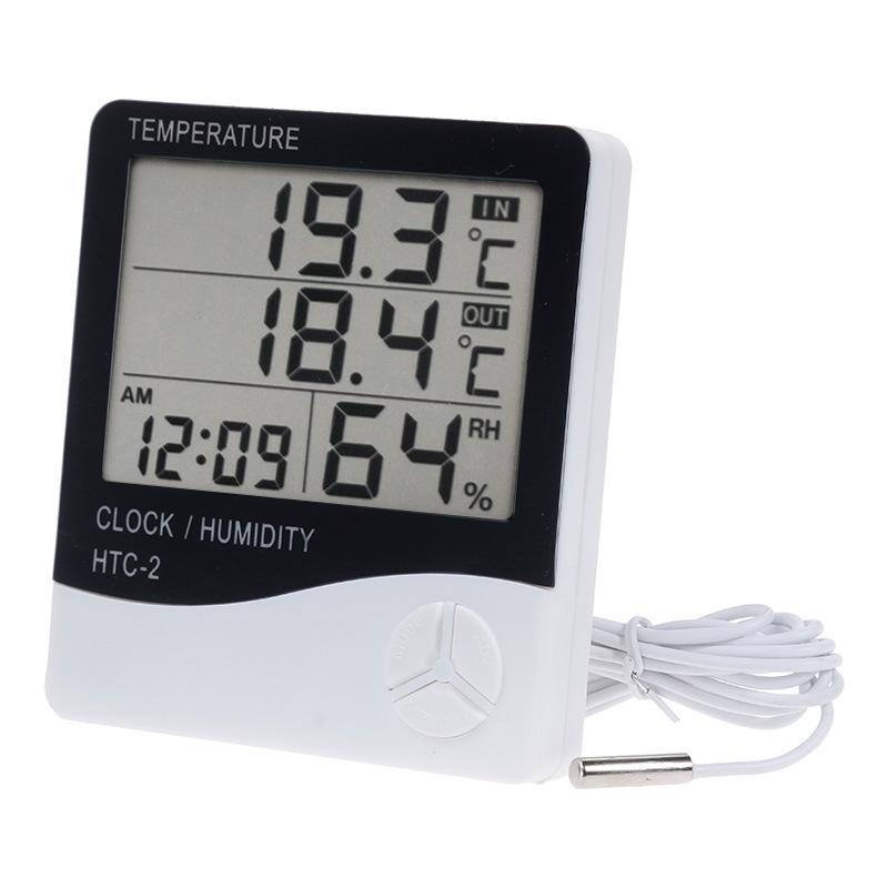 HTC-2デジタルLCDの温度計の湿度計の目覚し時計