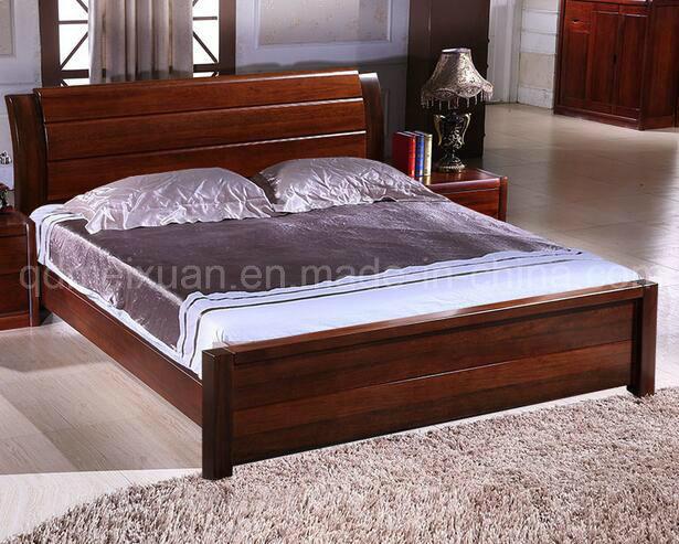 Foto de Cama de madera maciza modernas camas dobles MX2350 en es
