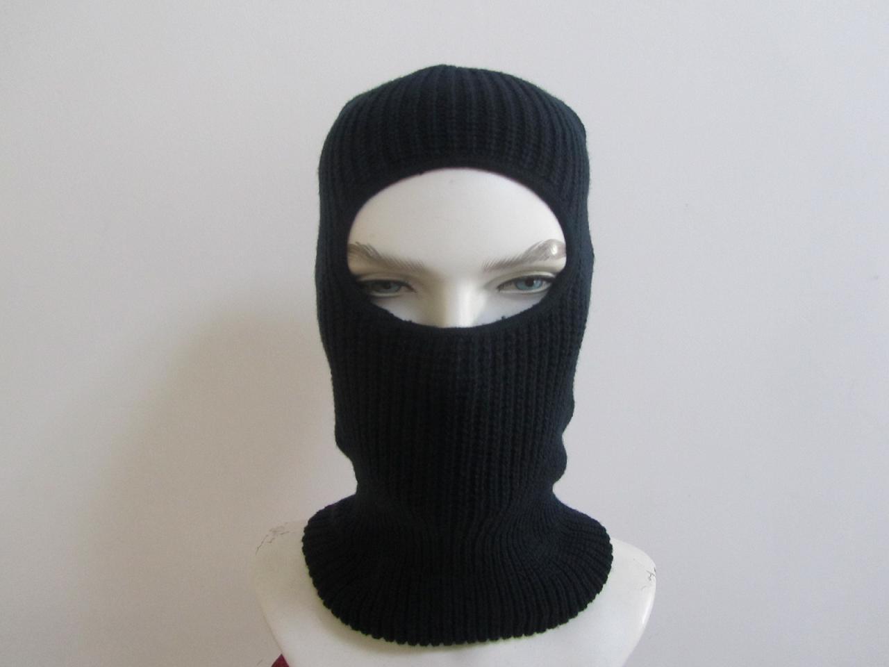 1つの穴の新しく熱い冬のマスクが付いているニットのバラクラバ