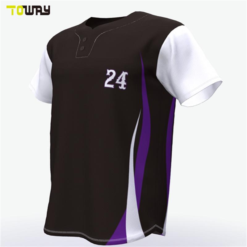 Оптовая торговля Custom молодежи вниз черного цвета бейсбольные футболках NIKEID