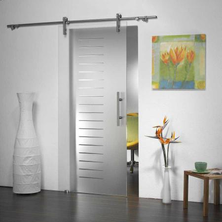 Badezimmer Glastür Schieben/, Frameless Ausgeglichenes Glas Tür (PR D50)