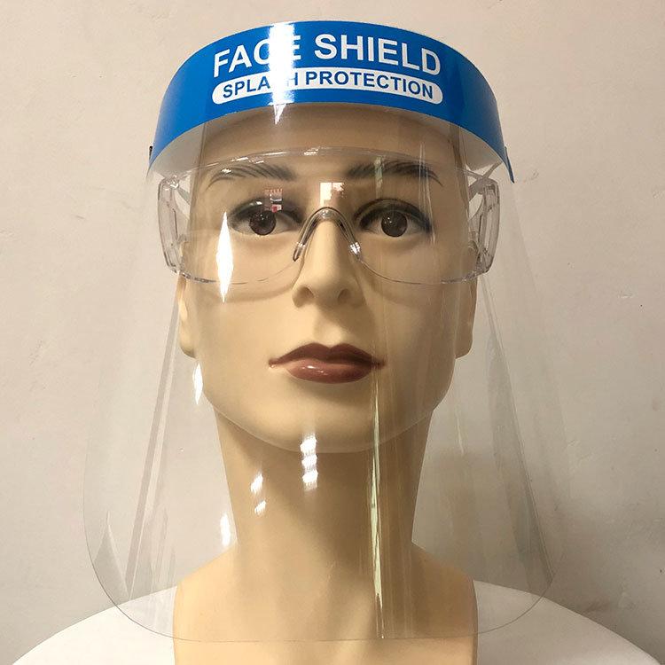 Профессиональные Anti-Fog Пыленепроницаемость полной защиты пластиковой защиты перед лицом+щиток прозрачную защитную маску для лица