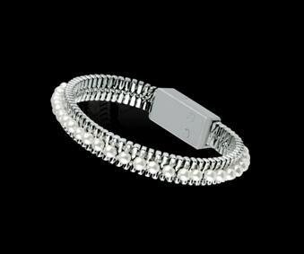 Il braccialetto che carica il cavo della perla del USB, adatta portabile