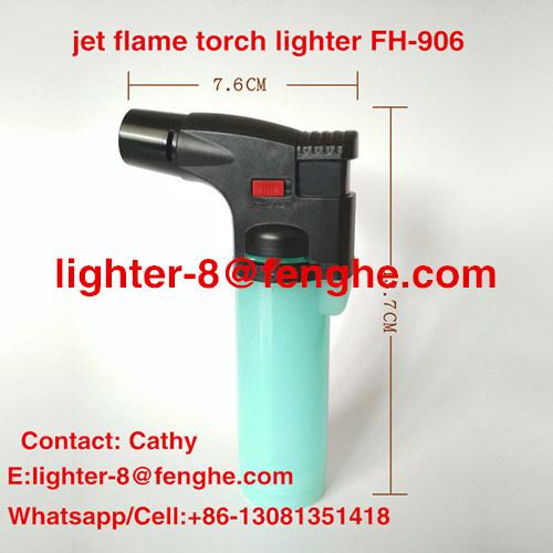 Isqueiro Wind-Proof Fh-906 do cigarro do BBQ do isqueiro da tocha da flama de jato