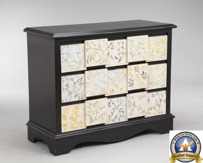 Dos tonos de madera muebles hermoso pecho Gabinete pintado – Dos ...