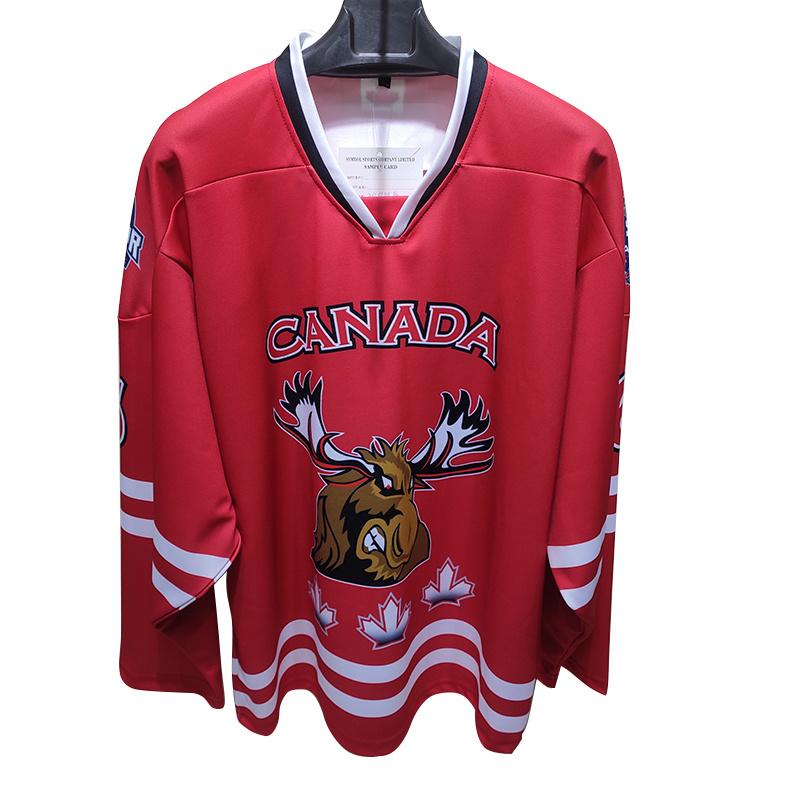Лучшая цена клуб красителя Sublimated напечатано мальчиков Хоккей верхней части футболках NIKEID