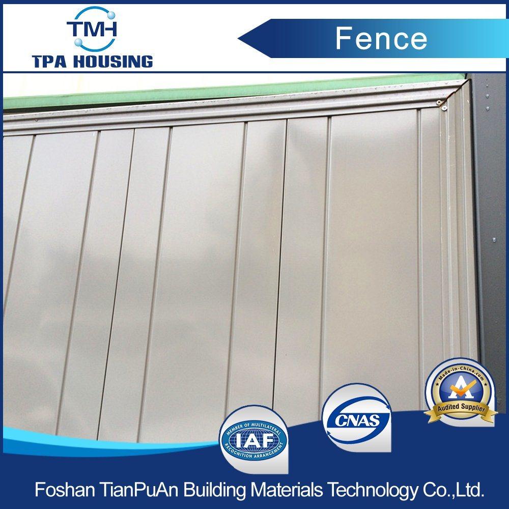 Stahlblech Zaun Fur Baustelle Foto Auf De Made In China Com
