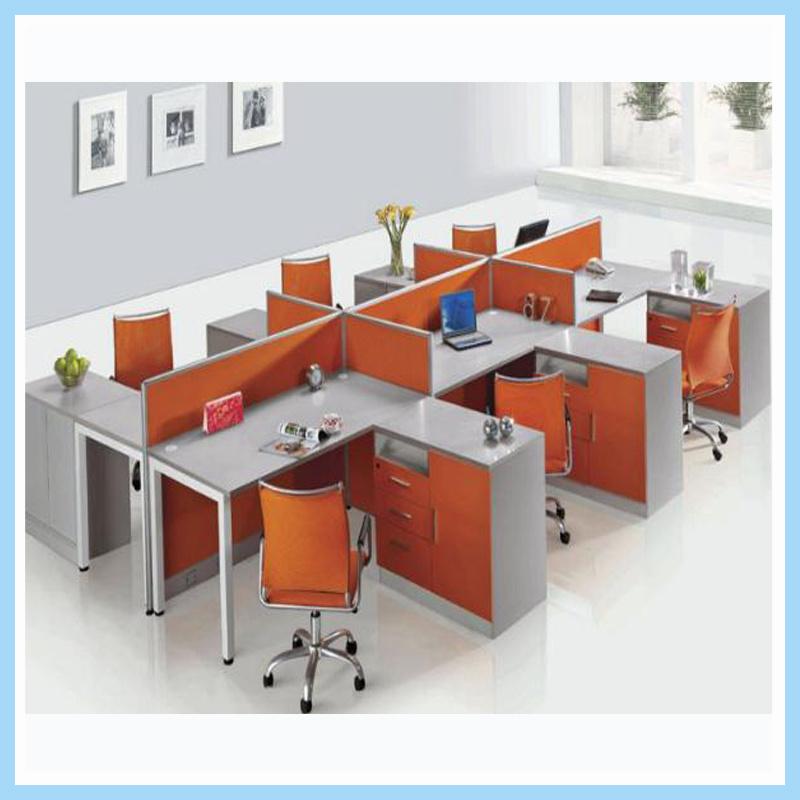 Sitio de trabajo recto combinado moderno de la oficina de personal para 6 Seater