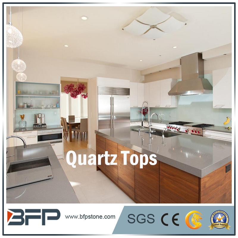 Pierre de quartz pour la partie supérieure du comptoir de cuisine ...
