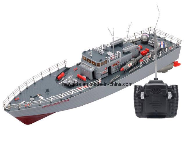 Model van de Boot van de Torpedo van het Schip van de Visserij van de Schaal RC van het 1:115 van de hoge Macht het Simulatie Geleide