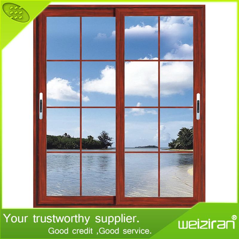 Interiores de diseño en aluminio de doble ventana corrediza de ...
