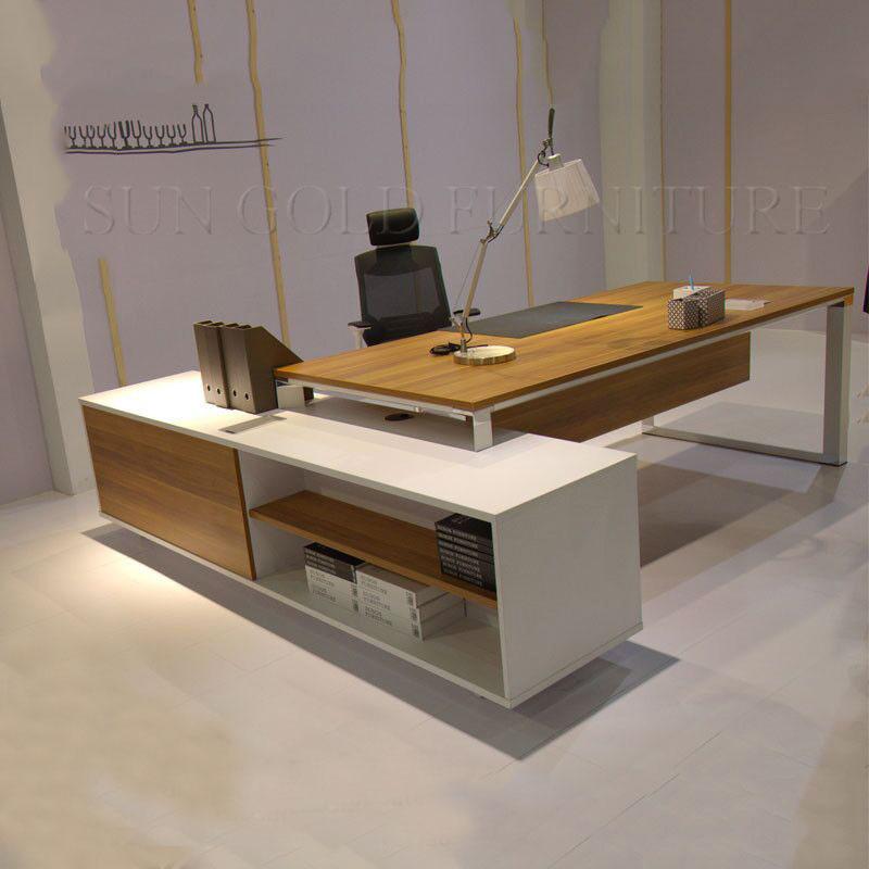 Foto de mesa de escrit rio de madeira secret ria executiva - Mesa escritorio moderna ...