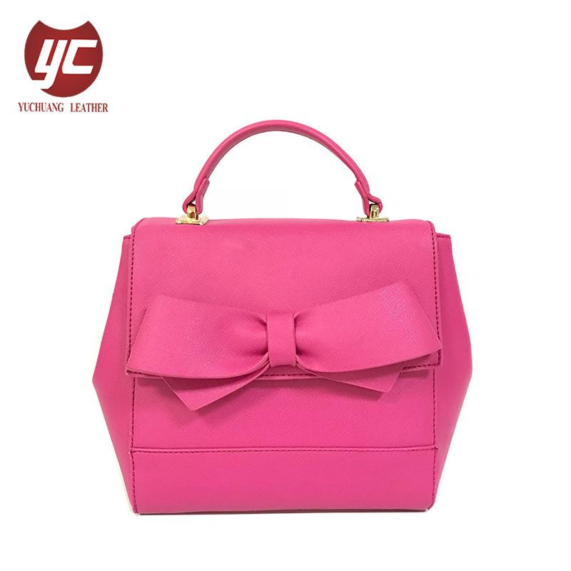 FormLC-012 Bowknot-Dekor-Schultaschen-Beutel-China-Großhandelspreis Saffiano lederne Handtaschen 2018 für Frauen