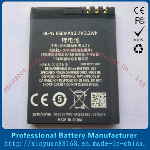 Batterij van de Telefoon van de cel de Mobiele Navulbare bl-4s voor Nokia