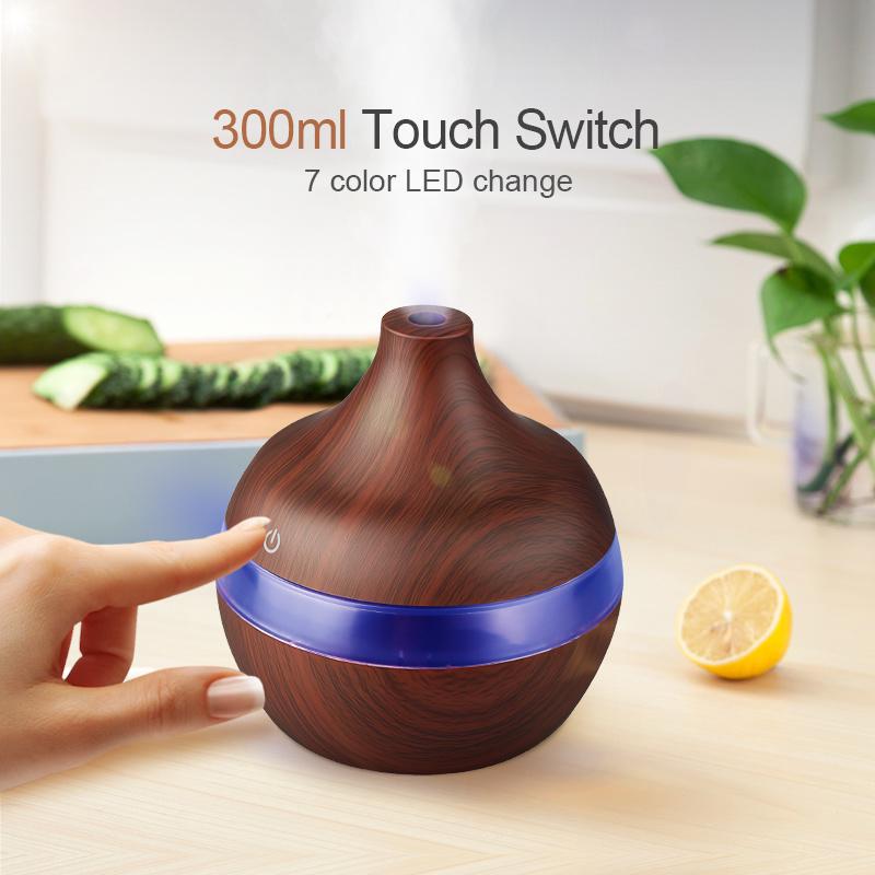 300ML Humidificateur d/'air ultrasons arôme Diffuseur Huile Essentielle LED USB