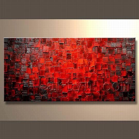 Art abstrait chinois de mur de peintures l 39 huile art for Artiste peintre chinois