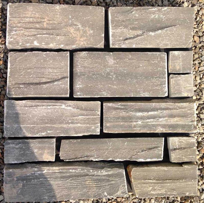 Foto de Apilado de cuarcita Natural fachada exterior de piedra (SMC ...