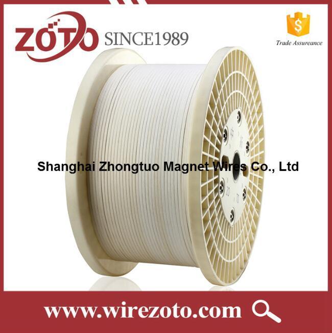 L'ISO a approuvé l'aimant isolé sur le fil de cuivre recouvert de papier Nomex fil plat