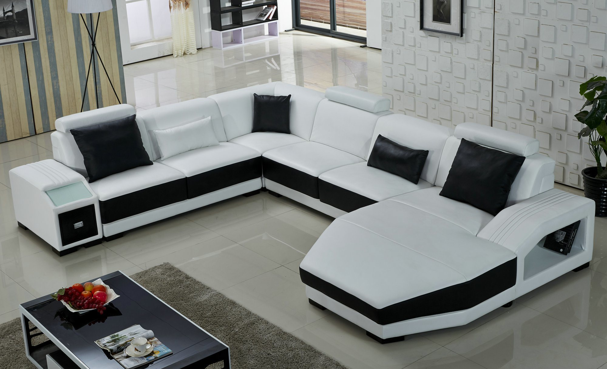 foto de sof moderno em forma de u branco em pt made in. Black Bedroom Furniture Sets. Home Design Ideas