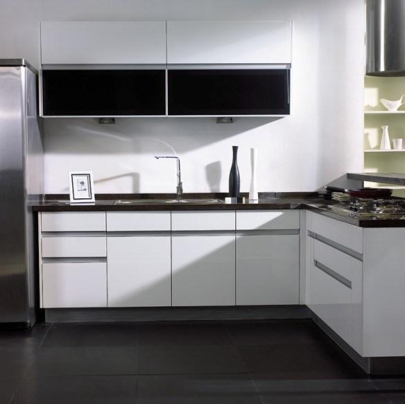 Cabinet de cuisine laqu blanc tivoli 003a cabinet de - Modele cuisine blanc laque ...