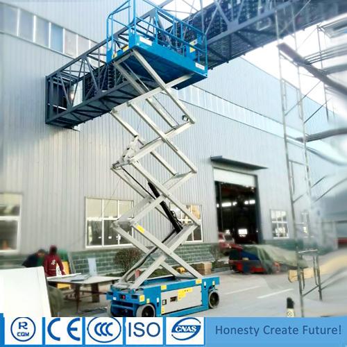 Elevación de mercancías portátiles autopropulsada con estructura de la tijera