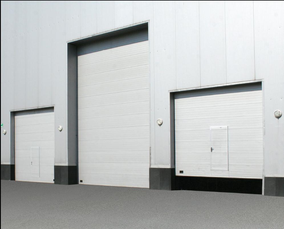 Вид в поперечном разрезе промышленности двери
