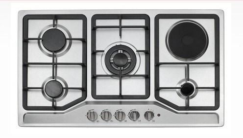 Une plaque électrique et 4 brûleurs cuisinière à gaz