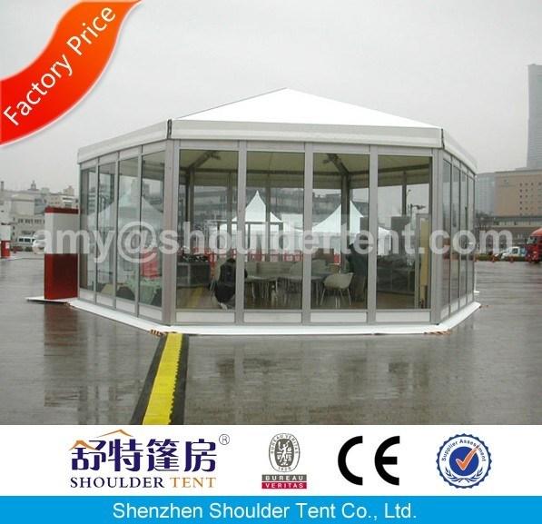 China Sechseckiges Zelt mit Glasfeind Ereignis – Kaufen