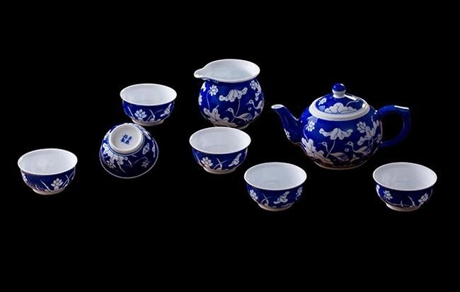 Venta caliente hermoso conjunto de tetera de porcelana, cerámica juego de té